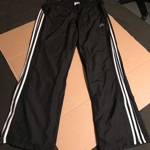 Adidas Black&White 3 Stripes Athletic Pants Sz LG